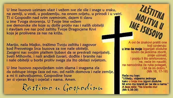 molitva u ime isusovo