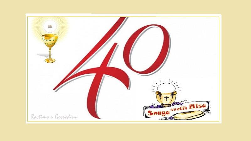 Image result for Četrdesetnica svetih misa i pričesti